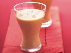 SWEET POTATO PIE SMOOTHIES ● 1 1/4 cups milk; ● 1/4 cup cooked sweet potato, cold; ● 2/3 cup Yoplait® 99% Fat Free creamy vanilla yogurt (from 2-lb container); ● 1 tablespoon honey; ● 1/4 teaspoon ground cinnamon; ● 1/4 teaspoon vanilla. Place ingredients in blender or food processor. Cover; blend on high speed about 1 minute or until smooth. Pour into 2 glasses. Serve immediately. http://www.bettycrocker.com/recipes/sweet-potato-pie-smoothies/f7501540-a89c-4775-96e4-69edc45732c4?src=SH