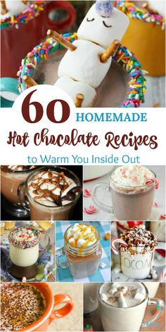 60 Homemade Hot Chocolate Recipes to Warm You Inside Out 60 . - 60 Homemade Hot Chocolate Recipes to Warm You Inside Out 60 Homemade Hot Chocol - Salted Caramel Hot Chocolate, Hot Chocolate Cookies, Mexican Hot Chocolate, Homemade Hot Chocolate, Hot Chocolate Bars, Hot Chocolate Recipes, Hot Chocolate Toppings, Chocolate Spoons, Vegan Chocolate