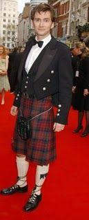 David Tennant in his Scottish formal wear...