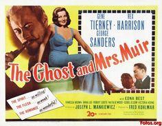 El fantasma y la señora Muir (1947), dirigida por Joseph L. Mankiewicz, protagonizada por Gene Tierney y Rex Harrison