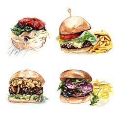 Personal work painting food
