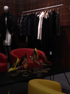 BALLY new flagship store in London - New Bond Street - Oct. 2014 #Toscanini #hangers
