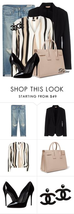 """Untitled #5788"" by doradabrowska ❤ liked on Polyvore featuring rag & bone, Maesta, Dorothy Perkins, Yves Saint Laurent and Dolce&Gabbana"