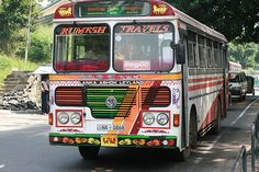Colourful bus, Kandy - Sri Lanka (www.secretlanka.com) #SriLanka #Kandy #AshokLankaLeyland #Bus