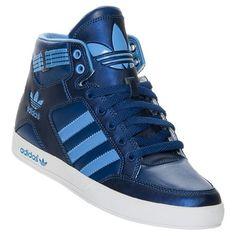 Women's adidas Originals Hardcourt Hi Casual Shoes basketball sneakers blue (6) adidas Originals