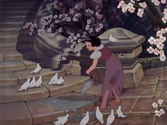 """""""Rags cannot conceal her beauty."""" -Magic Mirror. Snow White, Snow White and the Seven Dwarfs 1937 screencap."""