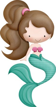 "Photo from album ""Mermaidia ~~"" on Yandex. Little Mermaid Parties, The Little Mermaid, Mermaid Clipart, Mermaid Birthday, Cute Images, Cute Cartoon, Cute Wallpapers, Painted Rocks, Hello Kitty"