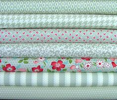 Fat Quarter Bundle of Vintage Modern in Gray by Bonnie & Camille for Moda. $16.54, via Etsy.