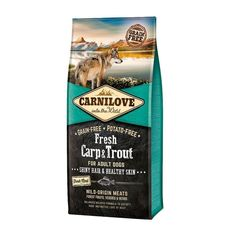Carnilove Fresh Carp & Trout Adult Fresco, Fresh Potato, Forest Fruits, Omega 3, Cranberries, Fruits And Veggies, Trout, Healthy Skin, Protein