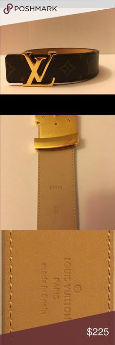 Louis Vuitton Monogram This belt is in perfect condition. There are no signs of wear. Any further questions text me @ 717-422-7561 Louis Vuitton Accessories Belts