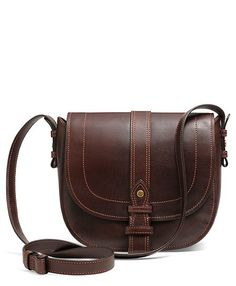 Calfskin Cross-Body Medium Flap Bag - Brooks Brothers