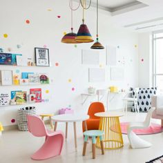 A room full of confetti without the mess? Yes, please! Make every day a celebration with this set of rainbow confetti wall decals. Details + Dimensions: Includes 140 individual dots Each dot is 3 inches in diameter Includes 10 dot colors: Red, pink, blue, yellow, orange, lime green, turquoise, baby blue, violet + purple Includes 14 dots of each color Matte finish Cut from specialized vinyl without edges or backgrounds Easy installation with included guide Decals adhere best to matte…