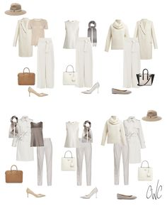If your new year resolutions include improved health and fitness, then a new year capsule wardrobe will accurately reflect who you are and what you do. Build A Wardrobe, Wardrobe Basics, Work Wardrobe, Capsule Wardrobe, Fedora Fashion, All White Outfit, Outfits With Hats, Winter White, Latest Fashion Trends