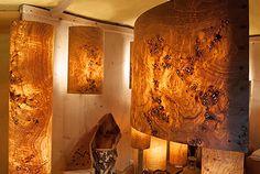 Designerlampen aus Naturholz