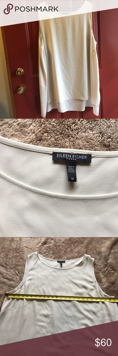 Eileen Fisher sleeveless blouse Eileen Fisher sleeveless blouse   Size 3X  Excellent used condition   Don't be afraid to send an offer, prices are always negotiable. Don't forget, everything in my closet is buy one get one 50% off of equal or lesser value. Eileen Fisher Tops Blouses