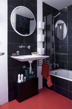 bathroom made from sustainable mat'ls..SINK IS PERF.