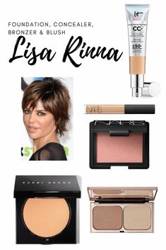 Lisa Rinna's go to foundation, concealer, blush and bronzer. Lisa Rinna Wig, Lisa Rinna Husband, Bronzer, Concealer, Mac Kinda Sexy, Lip Surgery, Chanel Lip, Skin Care Routine For 20s, Housewives Of Beverly Hills