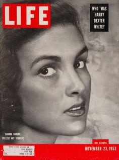 "Life Magazine cover, ""Sandra Krasne: college art student"", November 23, 1953"