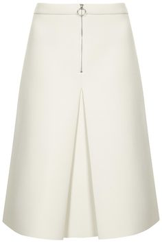 Inverted Pleated Zip Skirt
