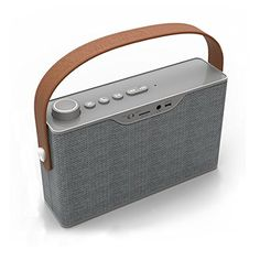 Portable Bluetooth SpeakerMoosen M2 Fabric Covered Retro Look Leather Strap Rugged Portable Wireless SpeakerLouder Volume 12W More Bass * Check out this great product.