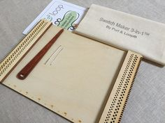 Swatch Maker 3-in-1 Weaving Loom -- for test swatches at 8, 10, or 12 e.p.i.