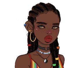 Skin Drawing, Net Flix, Different Art Styles, Black Cartoon, Magic Art, Aesthetic Art, Drawing Reference, Black Girl Magic, Black Art
