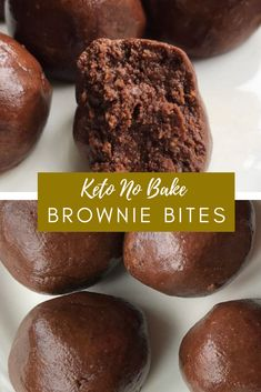 Keto No Bake Brownie Bites What's superior to anything brownie bites? Clearly sugar free keto no prepare brownie bites that truly take around 10 minutes to make. Popular Recipes, New Recipes, Easy Recipes, Easy Meals, Bread Recipes, Cookie Recipes, Dessert Recipes, Desserts, Diy Food