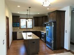 Maple Cabinets with granite counter tops.