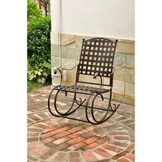 @Overstock - The Santa Fe Nailhead rocker is a comfortable and timeless addition to any garden or patio setting. The rocking chair is built with a steel frame that can comfortably seat most adults.http://www.overstock.com/Home-Garden/Sante-Fe-Nailhead-Rocker/5080161/product.html?CID=214117 $149.99