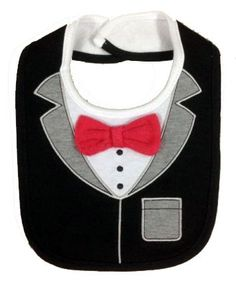 Tuxedo Bib Condition New Black & Grey Colour Tuxedo Babies Boys Feeding Bib Contact Letima House Baby Shop : Text & Whatsapp: +62-877-8080-6878 Blackberry Pin : BBM: 512B5D2E / 74B97998