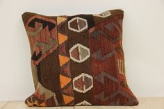 Hand Woven Turkish Kilim Cushion/ pillow Cover by kilimwarehouse, $50.00
