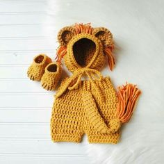 Crochet Crop Tops, Baby Bonnets, Baby Rompers by MiniMaeCrochet Baby Lion Costume, Baby Pumpkin Costume, Crochet Baby Costumes, Diy Baby Costumes, Baby Halloween Outfits, Crochet Baby Clothes, Newborn Crochet, Baby In Pumpkin, Pirate Costumes
