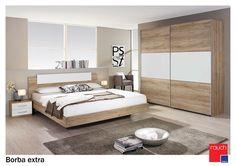 4 Door Wardrobe - Oak and Lava wide Wardrobe Design Bedroom, Luxury Bedroom Design, Bedroom Closet Design, Bedroom Furniture Design, Bed Furniture, Modern Bedroom, Beauty Room Decor, Bedroom Design Inspiration, Simple Bed