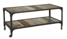 http://www.bing.com/images/search?q=Metal and Reclaimed Wood Tables