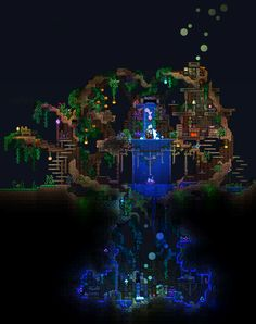 Den-Official - Waterfall Grove Cave - https://forums.terraria.org/index.php?threads/dens-creation-compendium.56740/