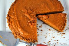 'Spicy Pumpkin Tart with Crunchy Gingersnap Crust'    I don't take responsibility for the amount you eat!    www.allyskitchen.com