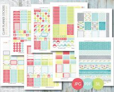 Free Monthly Printable Planner Stickers Set - Rainy Day 2 - Erin Condren