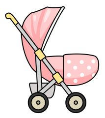 132 best baby clip art images on pinterest baby clip art baby rh pinterest com pink baby buggy clipart Baby Buggy Illustration