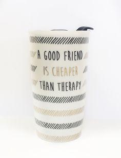 Ceramic Travel Tumbler-A Good Friend #accessories #drinkware #gift #home…