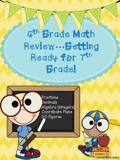 Summer is in the airthe kids are getting as anxious and so are the teachers!  After state testing, my main goal is to keep the learning going and the kids on task.  I like to use this time to review concepts that will be helpful when my students begin 7th grade math in the fall.In this packet, you will find 5 printables that are ready to be copied and handed out!