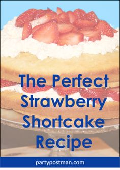 OK So we LOOVE Strawberries and we love Cake! So we thought what would be better than Strawberry Short Cake! We made this delicious cake for an local farmer's Strawberry Shortcake Recipes, Strawberry Cake Recipes, Party Food For Adults, Strawberries And Cream, Love Cake, Yummy Cakes, Hot Dog Buns, Breakfast, Desserts