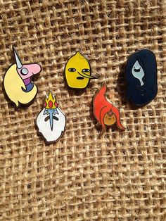 Adventure Time Mini Heads V2 Pins Heady Adventure Time by THCMerch