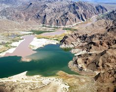 We were amazed at the variety of colors that could be seen in Lake Mead. We were told the blue-green color was due to copper and of course,. Lake Mead, Lake Life, Green Colors, Waterfall, Memories, River, Beach, Outdoor, Memoirs