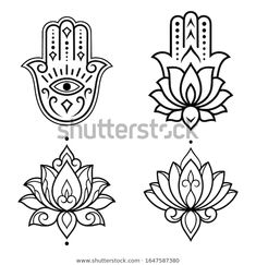 Find Set Hamsa Hand Drawn Symbol Lotus stock images in HD and millions of other royalty-free stock photos, illustrations and vectors in the Shutterstock collection. Thousands of new, high-quality pictures added every day. Hamsa Drawing, Symbol Drawing, Henna, Baby Drawing, Stencil Patterns, Hamsa Hand, Painted Rocks, Coloring Pages, Pattern Design