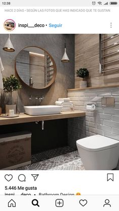 Fascinating bathroom design decor ideas refresh your mind Downstairs Bathroom, Bathroom Renos, Master Bathroom, Beautiful Bathrooms, Modern Bathroom, Small Bathroom, Bad Inspiration, Bathroom Inspiration, Small Toilet