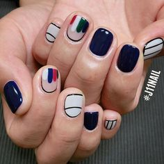 Bold and edgy #koreanails
