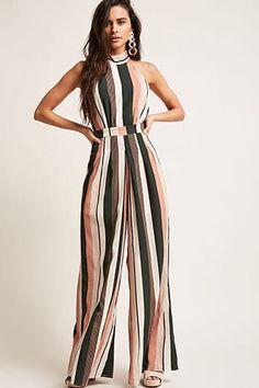 Product Name:Stripe Mock Neck Jumpsuit, Category:dress, Jumpsuits For Sale, Jumpsuits For Women, Two Piece Jumpsuit, Jumpsuit Style, Jumpsuit Outfit, Strapless Jumpsuit, Rompers Women, Women's Rompers, Long Sleeve Romper
