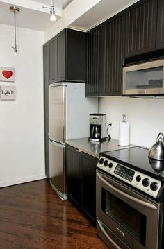 Brick Feature Wall, Espresso Kitchen, Radiant Heat, Bedroom Loft, Lofts, Toronto, The Neighbourhood, Kitchen Cabinets, The Unit