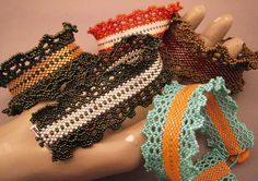 Colorful Bracelet Made to Order Each Color You Like Seedbeads Beadwoven Ruffle