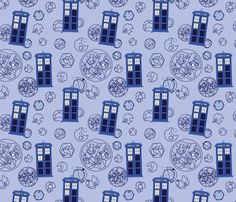 DOCTOR WHO - Madman in a Blue Box fabric by studiofibonacci on Spoonflower - custom fabric $18